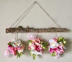 Boho Garden party Wall Decoration ! This is an a beautiful decoration for birthdays, Showers, room decor, weddings, possibilities are Endless!! **Made with natural reclaimed wood, California manzanita wood, high quality faux silk flowers, feathers gold dipped with faux gold pearls. **