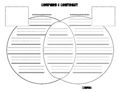 Vibrant image in printable venn diagram with lines