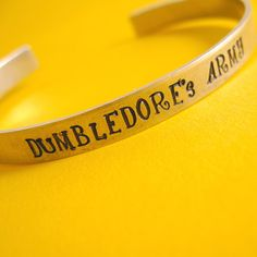 Harry Potter Bracelet Dumbledore's Army Hand by SpiffingJewelry, $18.00