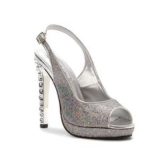 Touch Ups Cupid Slingback Sandals ($87) ❤ liked on Polyvore featuring shoes, sandals, glitter, glitter platform shoes, sling back sandals, platform slingback, sparkly sandals and platform sandals