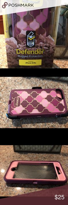 IPHONE 6/6s Otterbox with clip - used Used condition OtterBox for iPhone 6 or iPhone 6s. Lifetime warranty with OtterBox cases and this one comes with a brand new clip. Please see pictures for all details. OtterBox Accessories Phone Cases