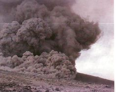 Image detail for -Pyroclastic flow, August, 1986, flowing down valley...