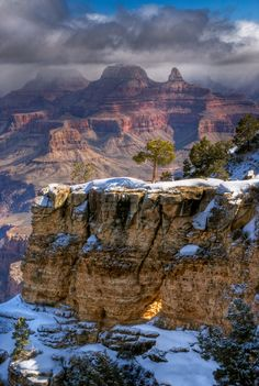 Bright Angel Trail, Grand Canyon, hopefully the snow will be gone by the time we…
