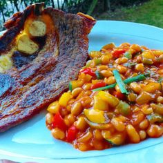 Ivy's Chakalaka – Ivy's Kitchenette (A Taste of Zimbabwe) Vegetarian Italian, Vegetarian Recipes, Baked Beans Salad, South African Recipes, Ethnic Recipes, Easy Cooking, Cooking Recipes, Bean Salad Recipes, Recipes