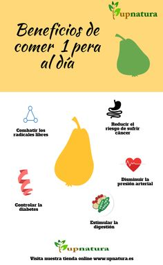 Beneficios de comer 1 pera al día #infografia #alimento #fruta #beneficios