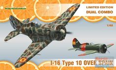 EDU01160 1:48 Eduard I-16 Type 10 Over Spain #1160