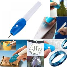 With this pen, you can label tools and valuables to personalize them. It gives you the ability to engrave all of your belongings without the cost and time of a Scrapbooking Machine, Engraved Pens, Router Cutters, Buy Electronics, Soldering Iron, Whatsapp Messenger, Diy Wood Projects, Metal, Minis