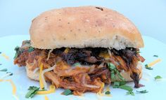 365 Days of Baking and More: Crockpot BBQ Root Beer Shredded Chicken Sandwiches