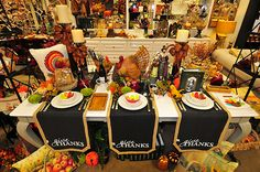 Colorful Thanksgiving Dining Table Display