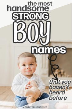 Are you looking for tough boy names? Here are the perfect strong baby names for your new little one. These baby names include meanings and origin. Baby Boy Middle Names, Short Boy Names, Strong Boys Names, Cool Boy Names, Unique Boy Names, Baby Girl Names, Irish Baby Boy Names, Rustic Boy Names, Vintage Boy Names