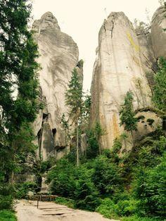 Felsformationen in der Adersbacher Felsenstadt