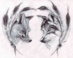 again by boyfriend is the wolf and I am the fox. cool to see how they come together so often.