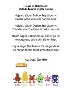 Babblarna Learn Swedish, Swedish Language, Preschool Themes, Pre School, Toddler Activities, Montessori, Teaching, Education, Tips