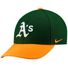 Men s Nike Green Oakland Athletics Wool Classic Adjustable Performance Hat 3abfd4b78897