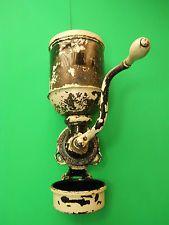 ANTIQUE LANDERS FRARY & CLARK 1905 WALL MOUNT COFFEE GRINDER LOT D31