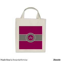 Purple Gray Tote Bag