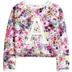 Patterned Sweatshirt $14.95 ($15) ❤ liked on Polyvore featuring tops, hoodies, sweatshirts, sweatshirt, print top, print sweatshirt, patterned sweatshirts, ribbed top and pattern tops