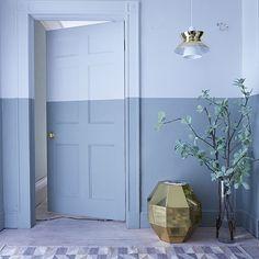 Blue hallway with painted dado rail | Unforgerttable hallways | Hallways | PHOTO GALLERY | Livingetc | Housetohome.co.uk