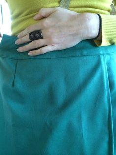 Finished skirt with detailed yoke stitching...