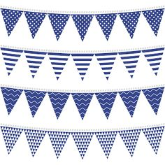 Free Printable for Party Blue Bunting.