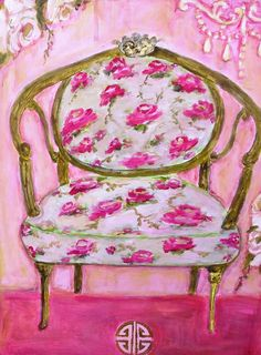 Pink Chair by femmehesse