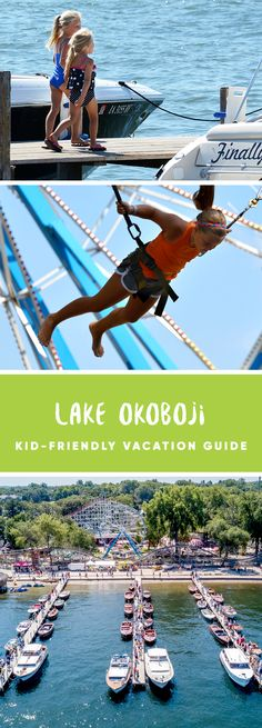Lake Okoboji Kid-Friendly Vacation Guide - our top activities, attractions, lodging and places to eat for families with children.  Plan your trip today!