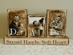 DIY Personalized Fathers Day gift father photo with son and daughter sepia Dad strong hands soft heart brown Last day to buy June 1 Personalized Fathers Day Gifts, First Fathers Day Gifts, Fathers Day Crafts, Grandparent Gifts, Daddy Gifts, Husband Gifts, Fathers Day Ideas, Grandpa Gifts, Personalized Signs