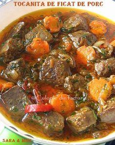 Romanian Food, Romanian Recipes, Tasty, Yummy Food, Foie Gras, Ratatouille, Pot Roast, Soups And Stews, Bacon