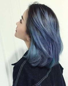 Here are 12 hair colour looks for the next 12 months - All For Hair Color Trending Ash Blue Hair, Blue Ombre Hair, Hair Color Blue, Ash Color, Blue Hair Balayage, Color Red, Red Hair, Violet Hair, Hair Color Streaks