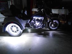 Check out these pics of the custom LED Accent Light install on this 2015 Harley Trike! Feel free to contact us directly at 754-484-7036 to set up your installation appointment.  chromeglow.com and sportbikelites.com for all your LED Motorcycle Lighting! #Harley #trike #ledaccentlights #chromeglow #sportbikelites