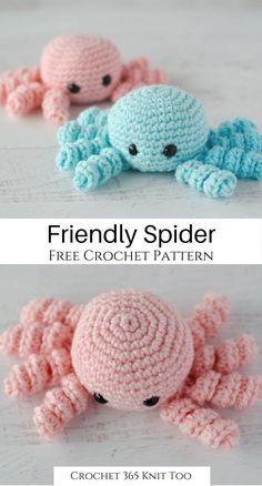 Easy Crochet Patterns, Crochet Patterns Amigurumi, Crochet Designs, Crochet Dolls, Crochet Gifts, Cute Crochet, Crochet Baby, Crochet Hedgehog, Crochet Octopus
