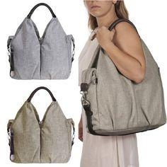 Amazon.com: Lassig Green Label Womens Choco Melange Neckline Baby Diaper Bag: Lassig: Clothing