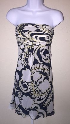 Ann Taylor Black White Floral Silk Strapless Dress Sz 0 Built in Shelf Bra | eBay