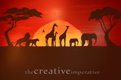 Love the idea of animal silhouettes... but not sure if I want something so dark for the preschool