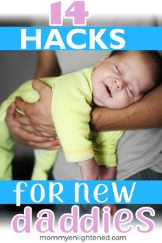 Welcoming your newborn baby home is definitely exciting and nerve-wracking at the same time. Here are some brilliant newborn hacks for dad to help make life as a new parent easier (hint: they aren't JUST for dads). New moms could benefit from these as wel Gentle Parenting, Parenting Hacks, New Parents, New Moms, First Time Dad, Dads, New Daddy, Baby Care Tips, Baby Supplies