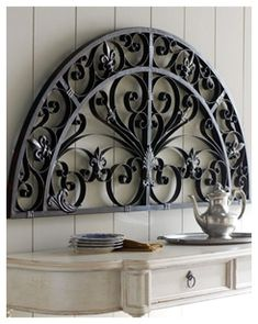 Wall Decor Tuscan Wall Decor, Arched Wall Decor, Wrought Iron Wall Decor, Wrought Iron Doors, Iron Decor, Metal Wall Decor, Tuscan Decorating, Interior Decorating, Decorating Ideas