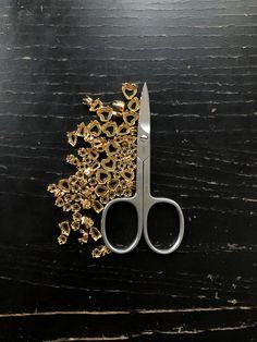 Crystal Settings | Scissors | Work Aesthetics | Behind the Scenes Tassel Bracelet, Pink Aesthetic, Scissors, Behind The Scenes, Jewelry Design, Aesthetics, Crystals, Crystal, Bicycle Kick