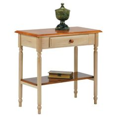 Found it at Wayfair - Country Console Table in Cottage White & Cherry