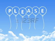 Cloud shaped as please Message photo