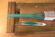 """board for tablet weaving. Repinned by Libby VanBuskirk """"Weaving & Art Teaching Ideas."""" Card weaving is exciting and the results can be similar to warp-faced Andean weaving of belts. There are great books on card or """"tablet"""" weaving  published by Interweave press."""