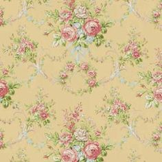Pearls & Roses - Large Floral - Yellow
