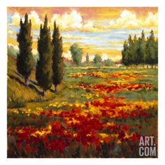 Tuscany in Bloom I by J.M. Steele. Giclee Print from Art.com, $29.99