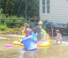 Bubbles and Sprinklers Summer Playdate Idea