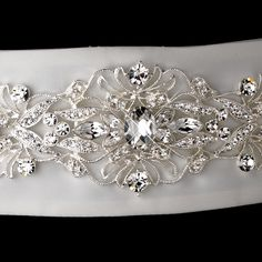 This bridal sash can be tied in a bow in the back of the gown or altered to your gown to be worn as a bridal belt. Your seamstress can easily shorten and sew belt to gown or add hooks, buttons or snaps to secure in place if you don't wish to tie bow in back. #timelesstreasure