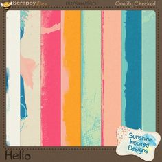 Hello Messy Solid Papers by Sunshine Inspired Designs. This fun, colorful and messy at the same time, digital scrapbooking collection is perfect for all your Springtime and Summertime, or craft layouts. This kit can be used to complement photos of your little one and you.  This messy solids pack includes 8 fun and artsy papers. You can use these papers in digital scrapbooking, pocket page, art journaling, and card making projects.