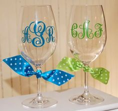Be My Guest: PERSONALIZED ACRYLIC WINE GLASSES