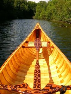 Maiden Launch of my cedar canvas canoe and matching paddle