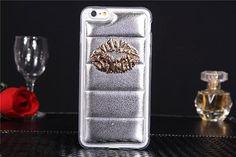 Weiche TPU Handyhülle mit sexy Lippen aus Metall für iPhone 6/6 Plus - spitzekarte.com