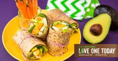 Creamy cholesterol-free avocados & tangy oranges make this wrap a lunch fav.