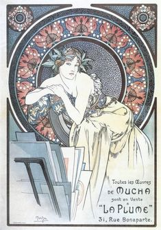 1898 Poster to promote the works of Mucha at La Plume, Paris lithograph 63.5 x 45 cm © Alphonse Mucha Estate-Artists Rights Society (ARS), New York-ADAGP, Paris